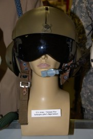 Vietnam War US Army helicopter pilot's flight helmet.