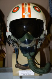 Vietnam War US Marine Corps combat worn flight helmet worn by Capt. ''Bo'' Baker.