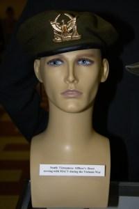Vietnam War South Vietnamese officer's beret serving with MACV.