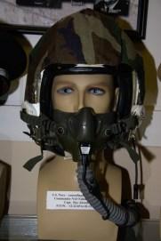 Vietnam War US Navy flight helmet worn by Capt. Ray Alcorn, POW 12-22-1965 to 02-12-1973.