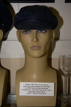 Chinese ''Mao'' hat worn by the two American POWs in Chinese hands. This one was worn by Commander Robert Flynn, POW 08-21-1967 to 03-15-1973.