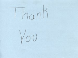 School Group Thank You Card