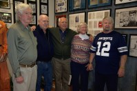 (Left to Right)S/SGT Peter Kane, Curator Lee Humiston, Cdr Robert S. Fant, Becky Fant, A 1/C Billy Randall