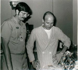 Lt Carroll Beeler, USN (right, image taken at Clark Airbase Hospital March 1973)