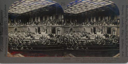 President Wilson Addressing Congress