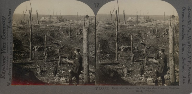 Desolate Waste on Chemin Des Dames Battlefield, France
