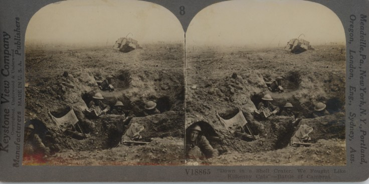 "Down in a Shell Crater We Fought"" - Battle of Cambrai"