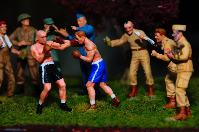 A Friendly Boxing Match, World War II Diorama