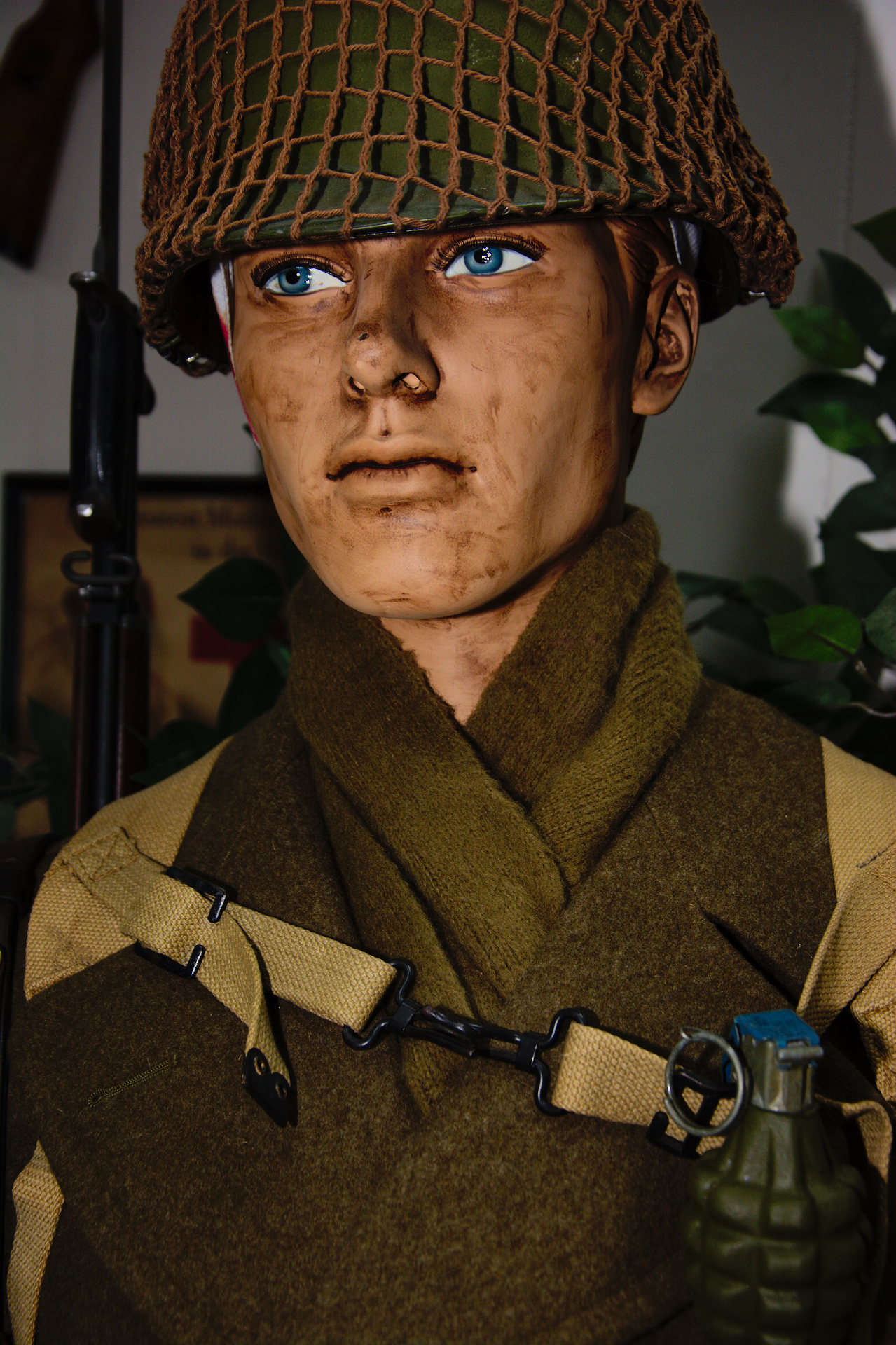 WW II wounded soldier from the 3rd Infantry Division