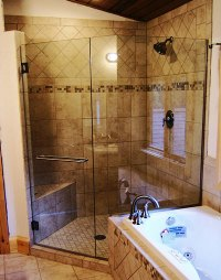 Three panel and up frameless shower doors