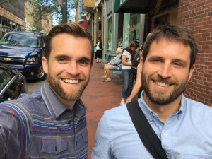 Sean Sullivan, left, and Kai Smith founded Buoy Local in 2013 to give local retailers in Portland a boost.