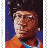 On January 31, the United States Postal Service will unveil a new postage stamp honoring Shirley Chisholm. The image used for the stamp is Maine artist Robert Shetterly's portrait, which is part of the Americans Who Tell the Truth series.