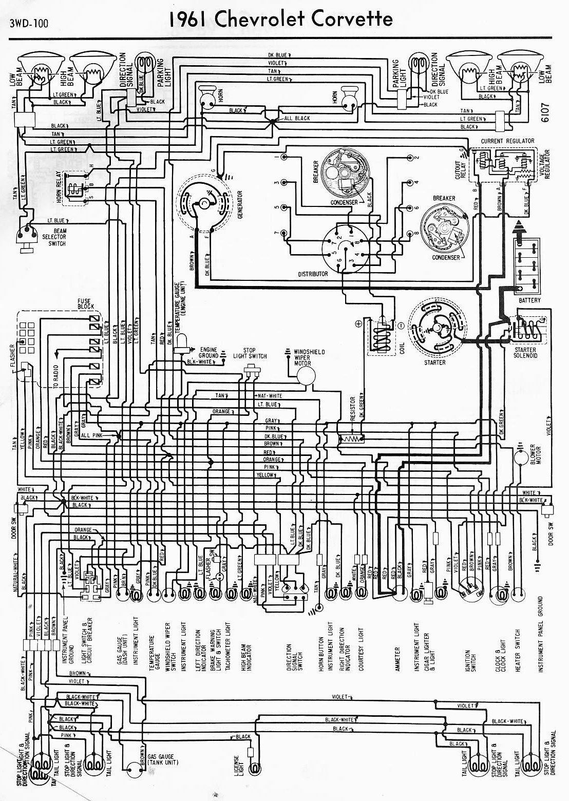 hight resolution of wiring diagram for 1961 chevrolet corvette wiring diagram todaywiring diagrams of 1961 chevrolet corvette diagram data