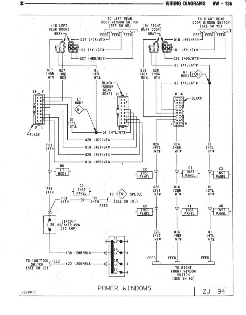 Wiring Manual PDF: 01 Jeep Grand Cherokee Rear Lamp Wiring