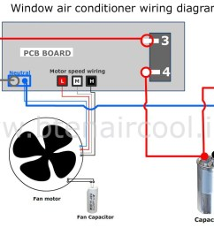 wiring diagram for ac capacitor wiring diagrams schematics electrical schematic of air conditioning window unit diagram [ 1600 x 795 Pixel ]