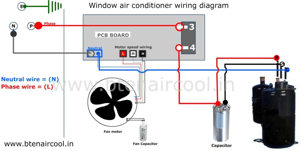 medium resolution of wiring diagram for ac capacitor wiring diagrams schematics electrical schematic of air conditioning window unit diagram