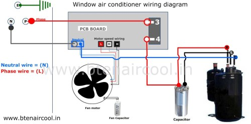 small resolution of wiring diagram for ac capacitor wiring diagrams schematics electrical schematic of air conditioning window unit diagram