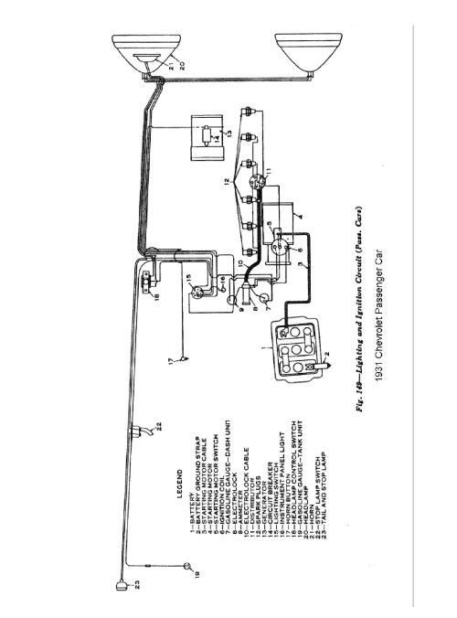 small resolution of 1931 1931 wiring diagrams 1931 lighting ignition unique chevy ignition coil wiring diagram diagram