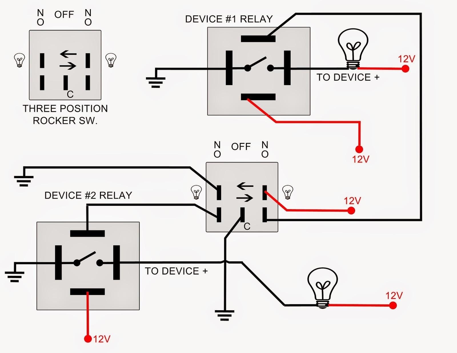 Single Pole Double Throw Relay Wiring Diagram
