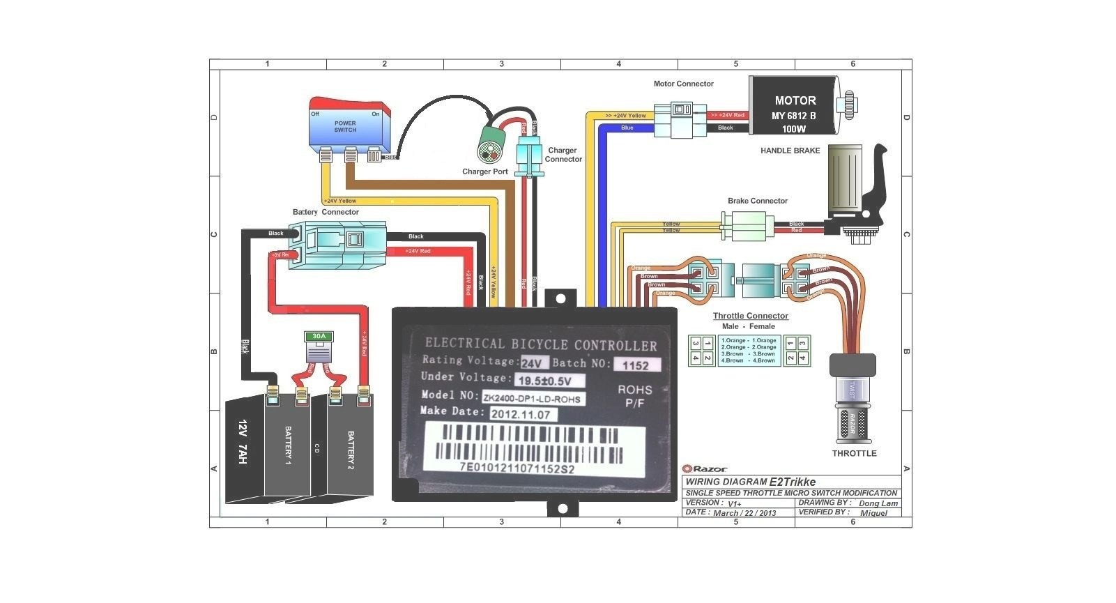 electric scooter motor controller wiring diagram renault master radio bike circuit