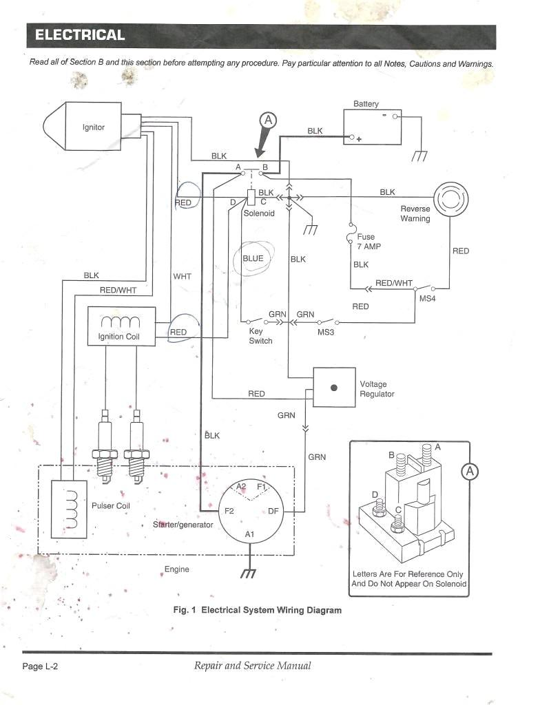 golf cart starter generator wiring diagram crayfish internal anatomy detailed 1992 ez go gas libraryez