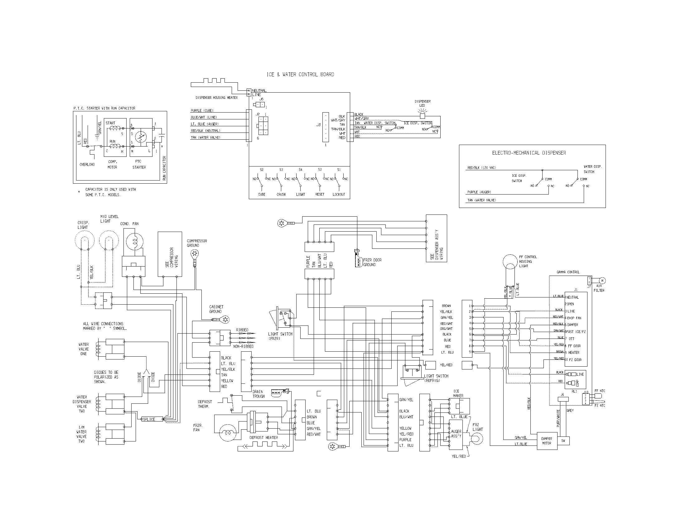 Frigidaire Refrigerator Electrical Diagram Wiring Diagram