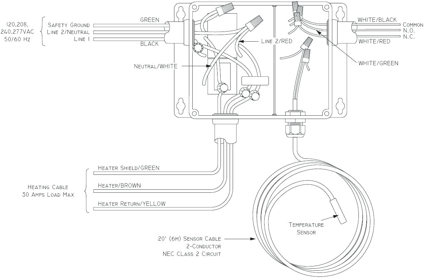 double pole baseboard thermostat wiring diagram
