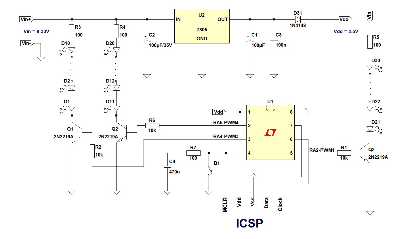 Led Christmas Lights Schematics Circuitzonecom Electronic Projects Diy Controller Wiring Schematic For Data