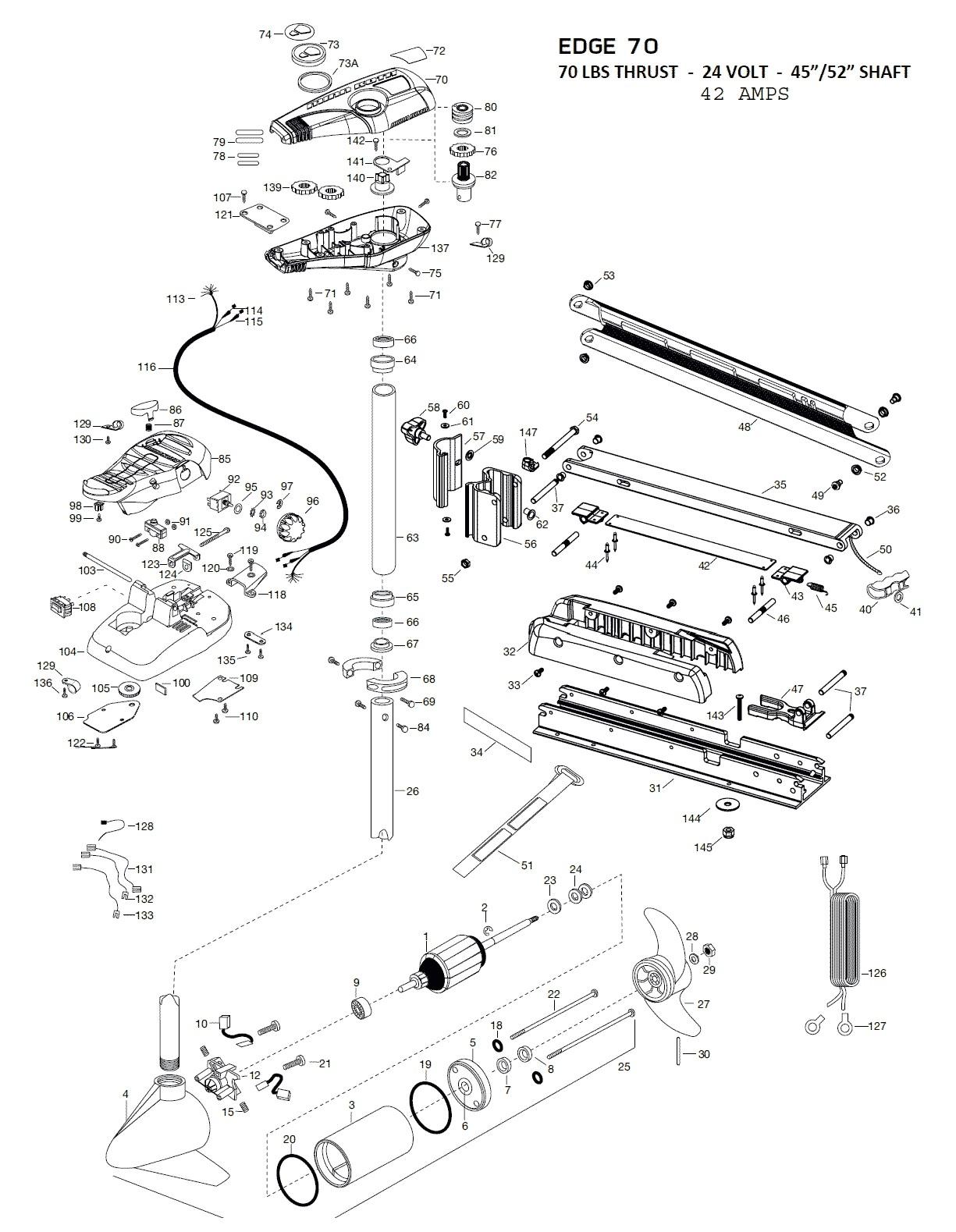 Minn Kota 65 Trolling Motor Parts