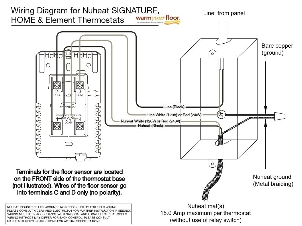 nuheat solo wiring diagram 2004 bmw x5 ac home thermostat installation unique