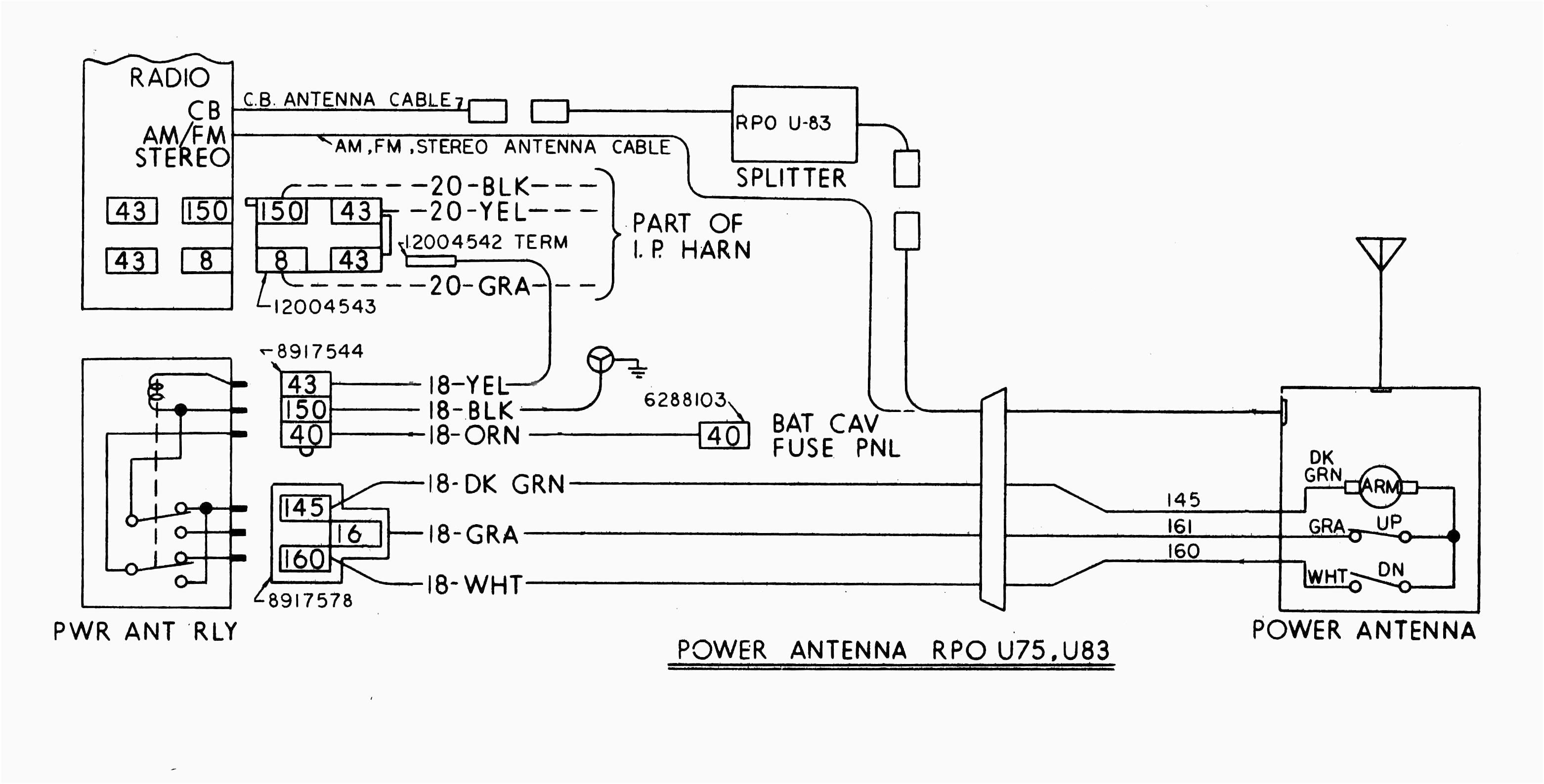 power antenna wiring diagram f100 image