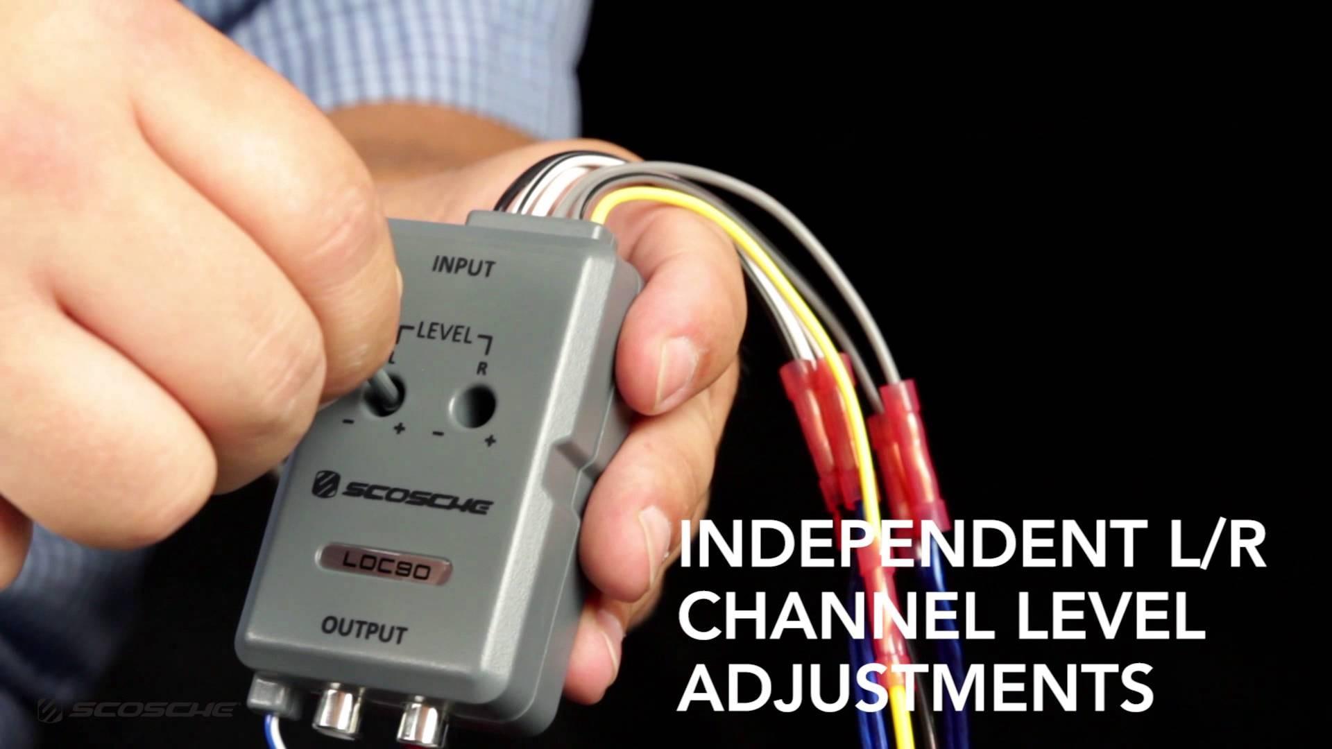 Loc90 Line Output Converter Scosche Youtube