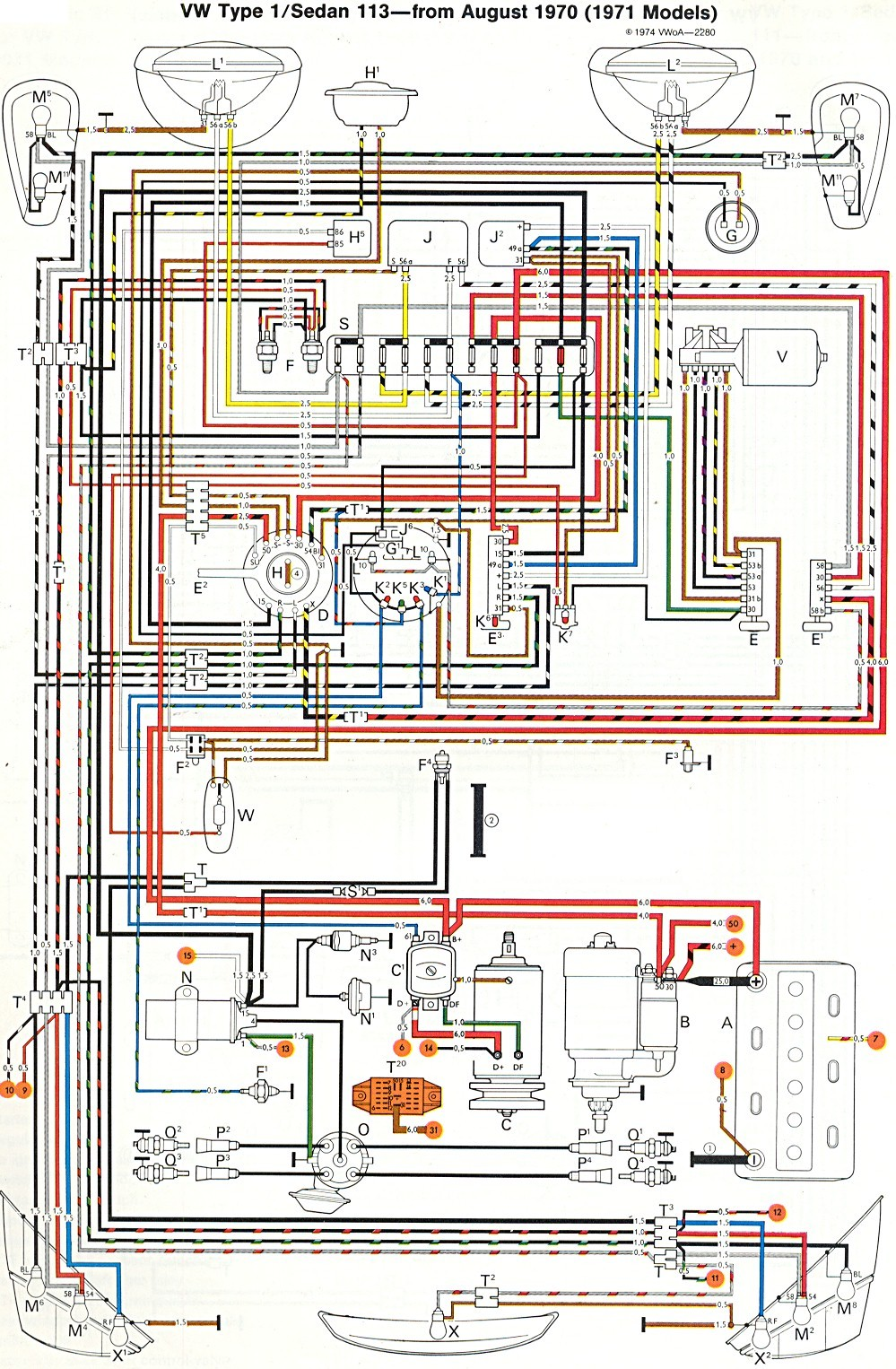 medium resolution of vw wiring diagram wiring diagram image rh mainetreasurechest com 1973 vw beetle engine