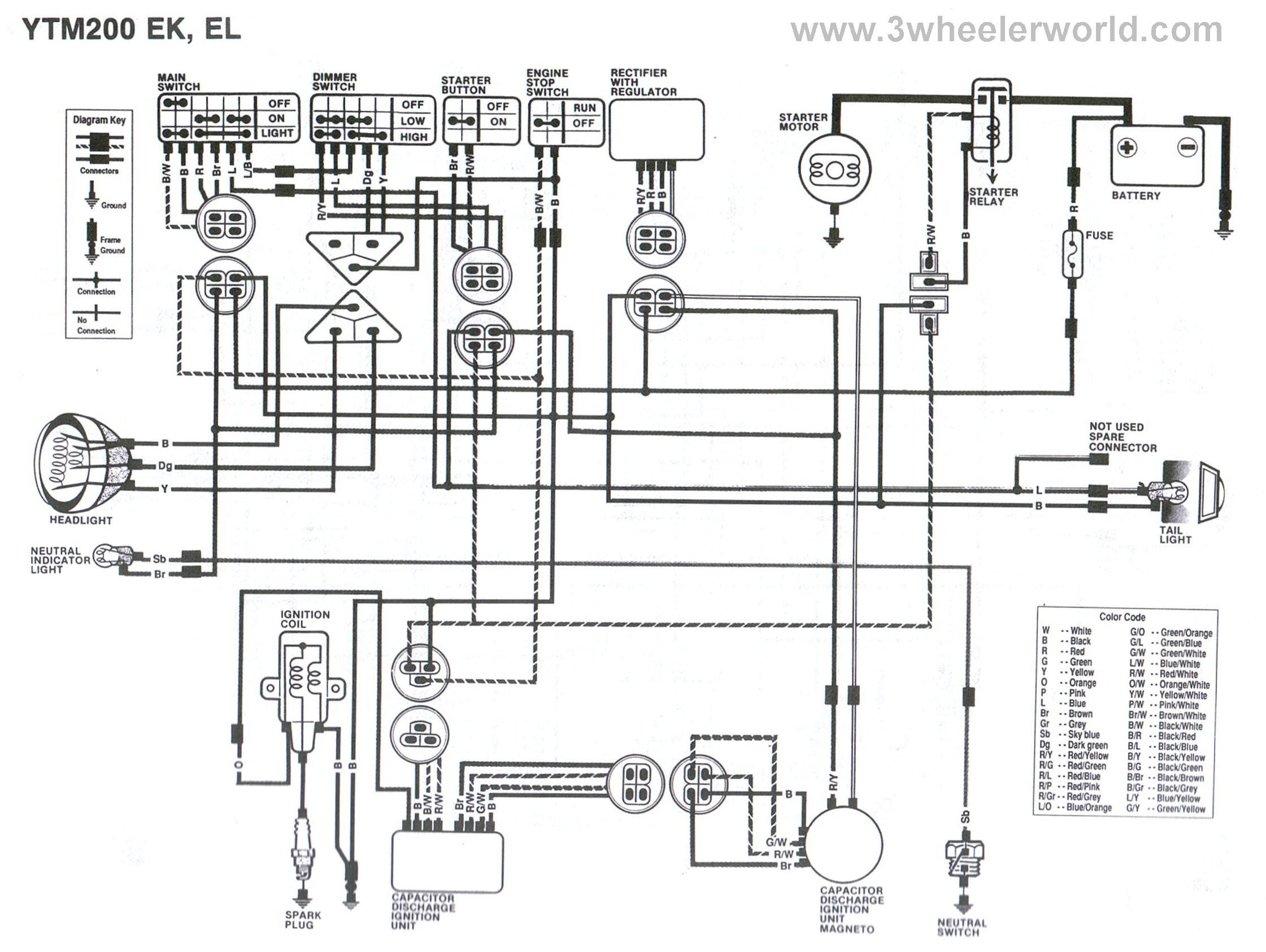 1985 yamaha virago wiring diagram