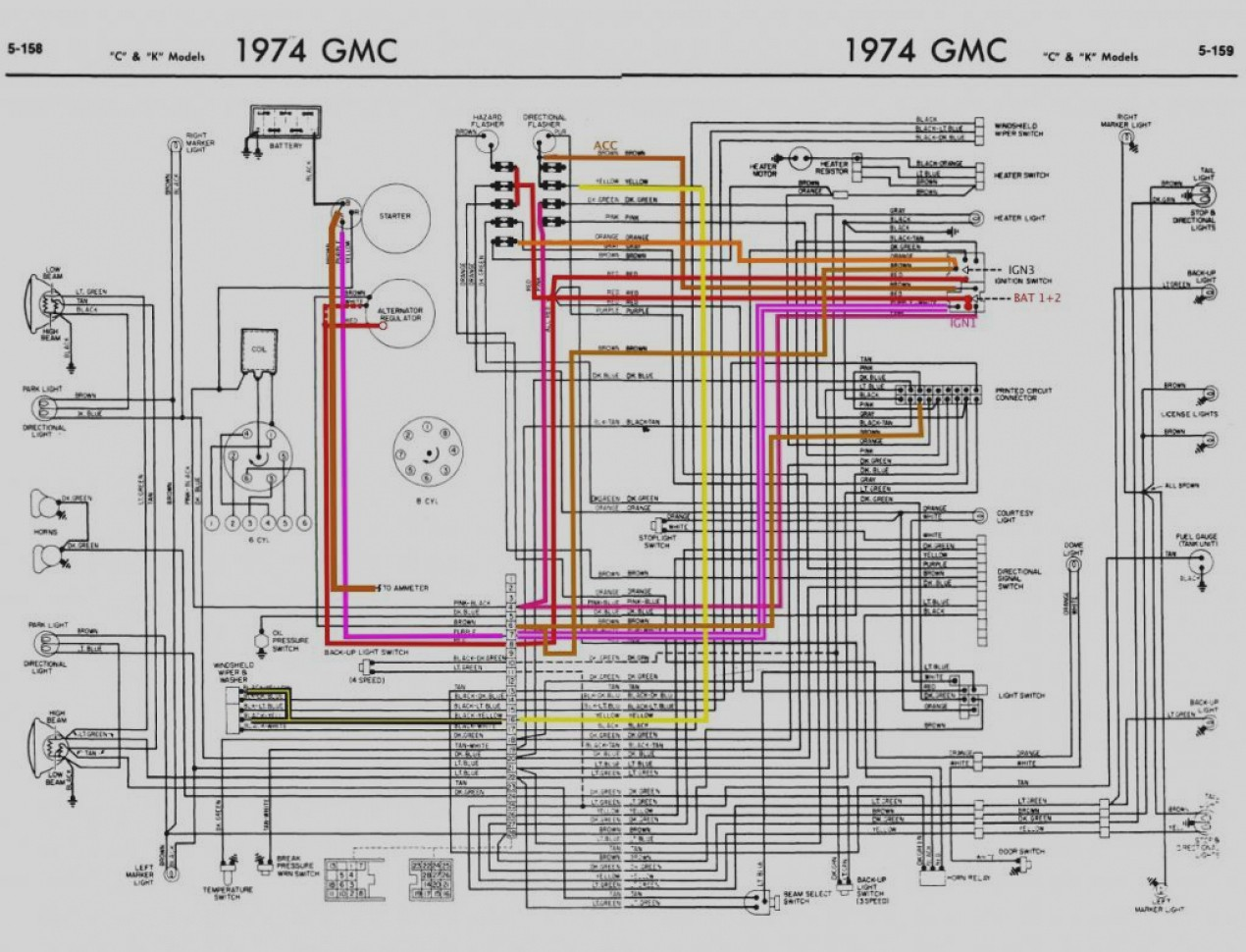 hight resolution of  gmc vandura fuse panel 1974 74 corvette wiring diagram manual ebay wire center u2022 rh pepsicolive co k 5