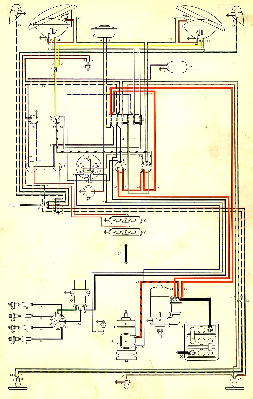 58 Vw Alternator Wiring Diagram Libraries 1974 Bug Getting Ready With U202258 Bus Harness
