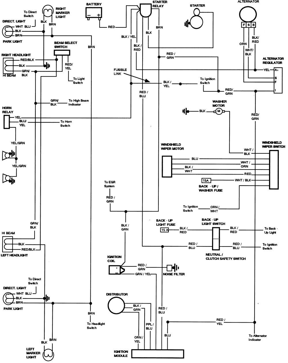 82 dodge truck alternator wiring