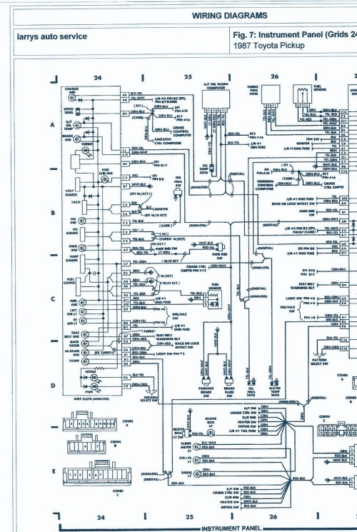small resolution of 87 cougar fuse diagram wiring diagrams schematics 1995 isuzu pickup truck 1987 isuzu pup fuse box