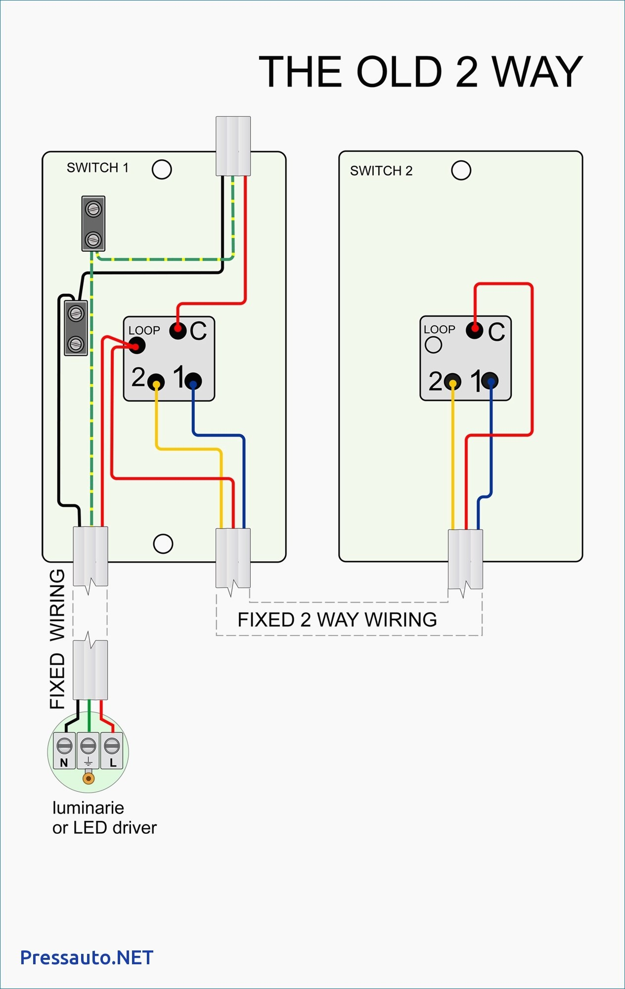 wiring diagram for 2 lights and switches 1998 chevy silverado parts way image