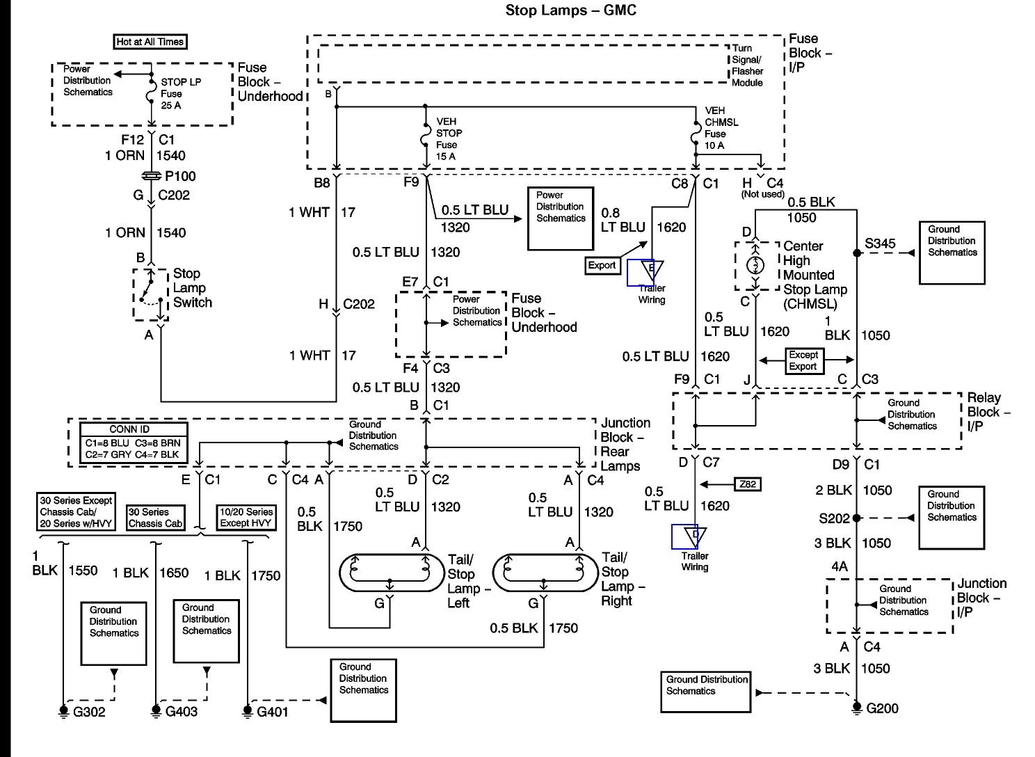 1998 silverado trailer wiring diagram