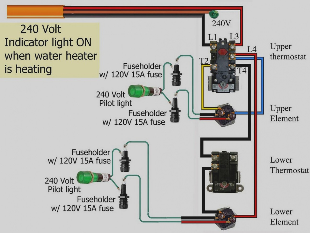 120 volt thermostat wiring diagram for trailer lights and electric brakes 240 heater unique image
