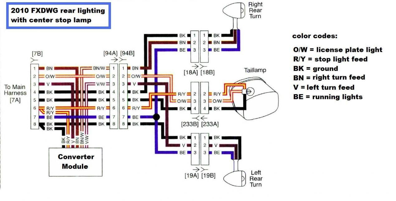 Harley Davidson Headlight Wiring Diagram - on