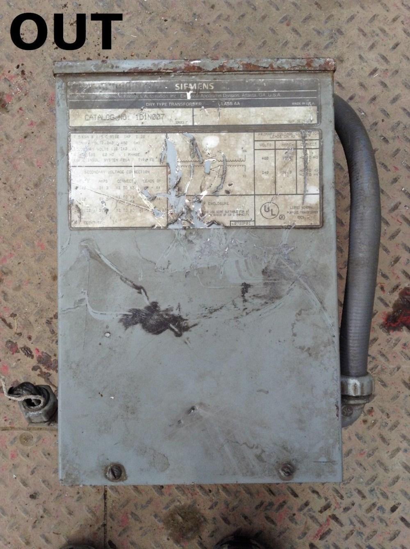 medium resolution of siemens 1d1n007 type fb transformer 7 5kva 240 480v prim 120 240v installing 75 kva dry siemens 75 kva transformer wiring diagram