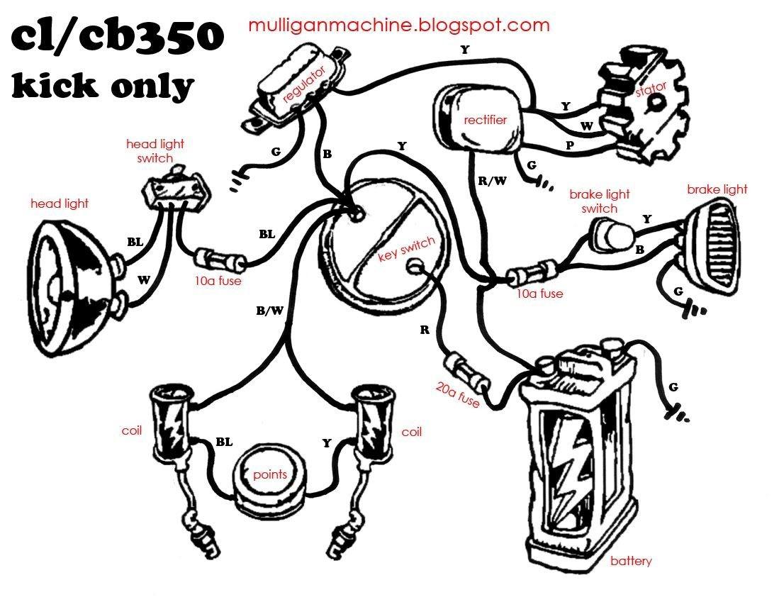 cb750 simple wiring diagram 2003 dodge ram 1500 window chopper electrical diagrams
