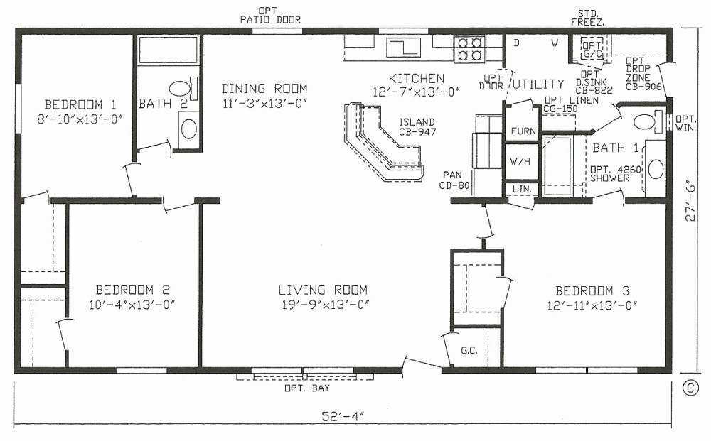 medium resolution of 1999 champion mobile home floor plans inspirational mobile house plans home canada small double wide