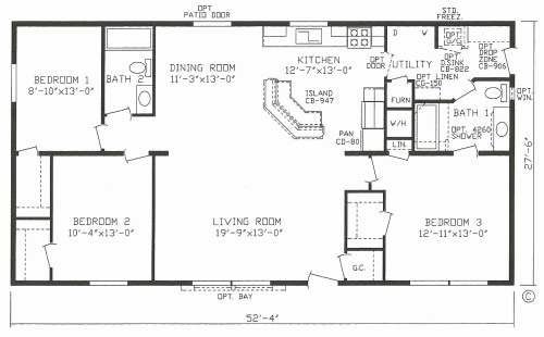 small resolution of 1999 champion mobile home floor plans inspirational mobile house plans home canada small double wide