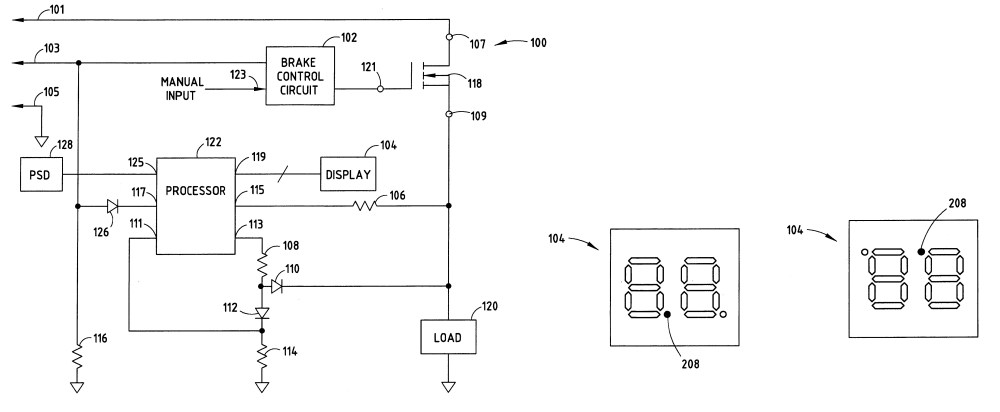 medium resolution of patent us and trailer brake control wiring diagram with controller