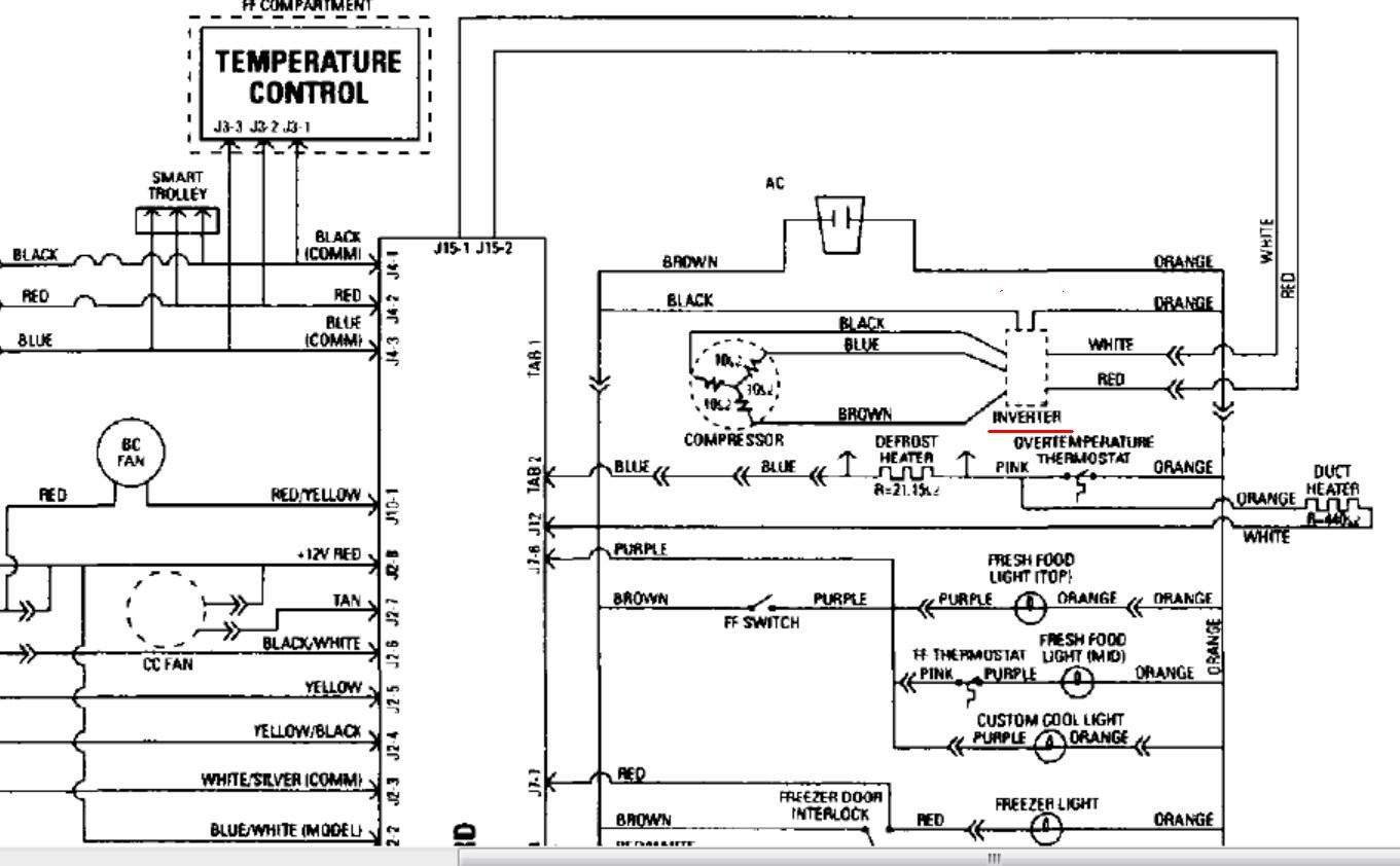 Ge Refrigerator Computer Wiring Diagram Data Wiring Diagrams