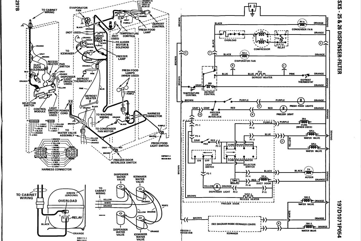 Magnificent Ge Profile Refrigerator Wiring Diagram Model