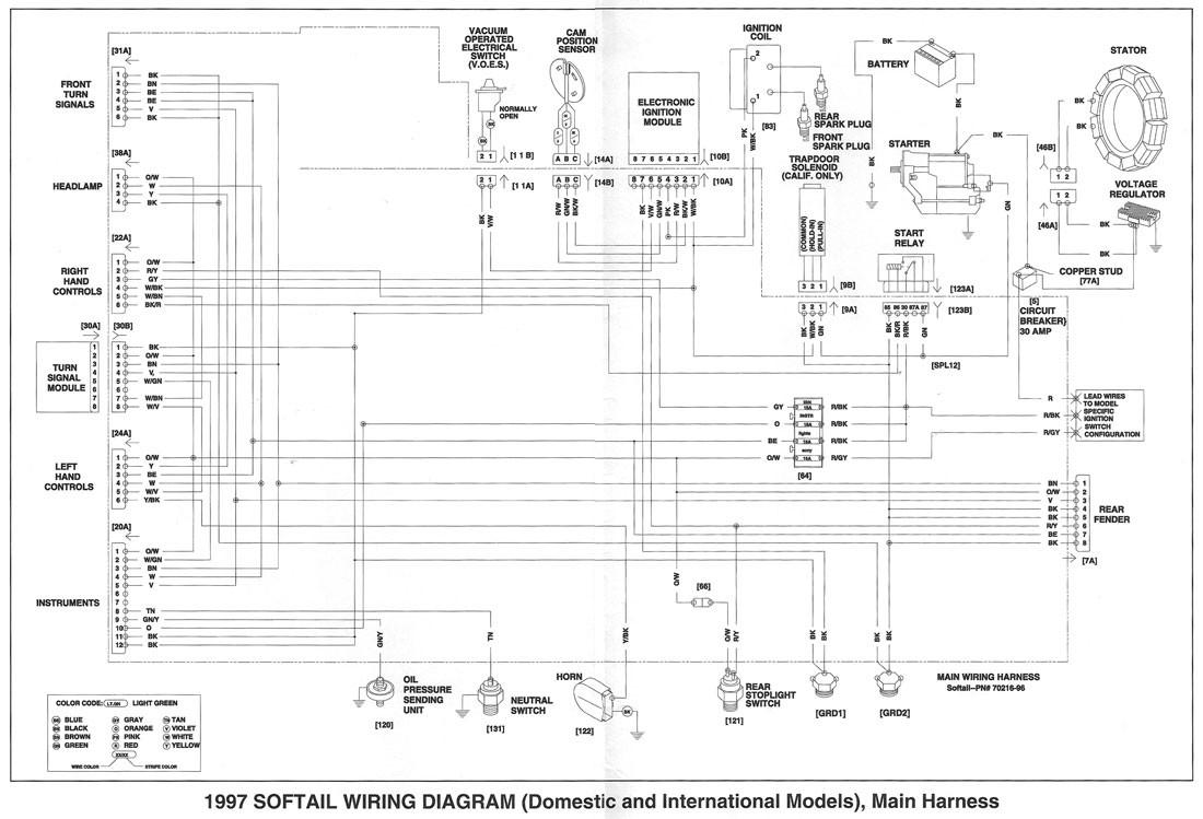 2006 Harley Softail Wiring Diagram | Wiring Schematic ... on